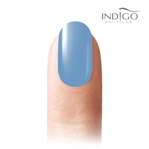 lakier hybrydowy indigo niebieski pastelowy